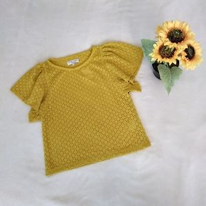 Madewell Texture and Thread yellow top